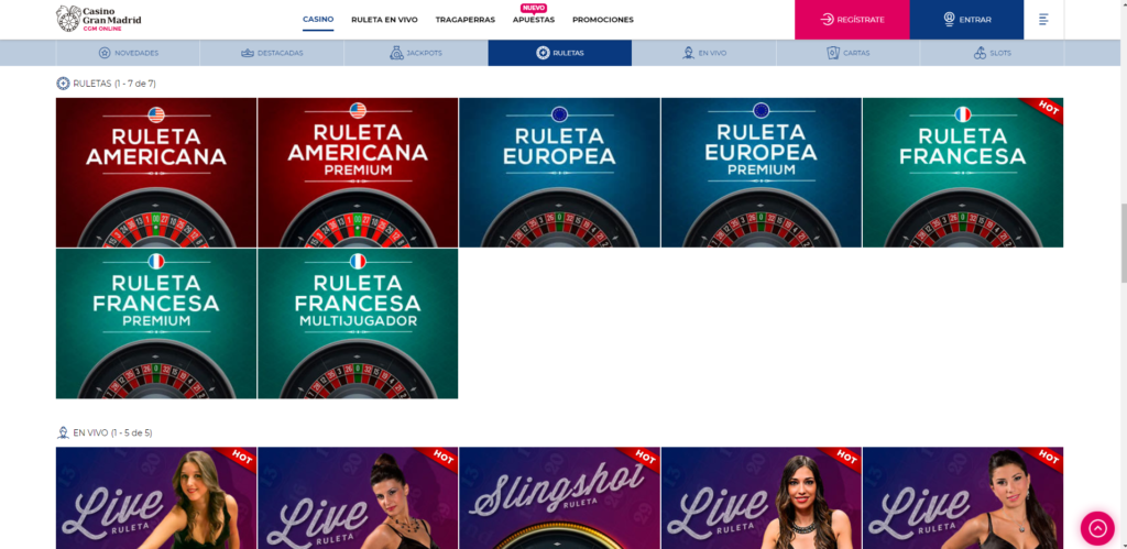 Casino Gran Madrid Online 2