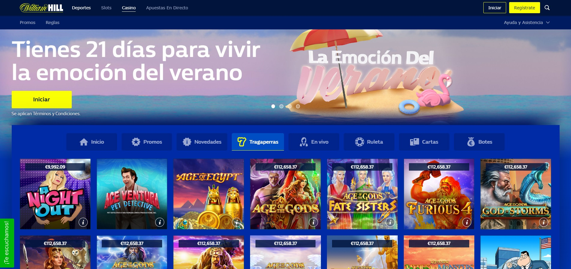 William Hill Casino Tragaperras Ordenador